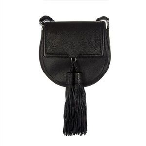 Rebecca Minkoff Black Isobel Saddle Crossbody Bag